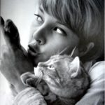 Sylvie Vartan and her Cat, 1962