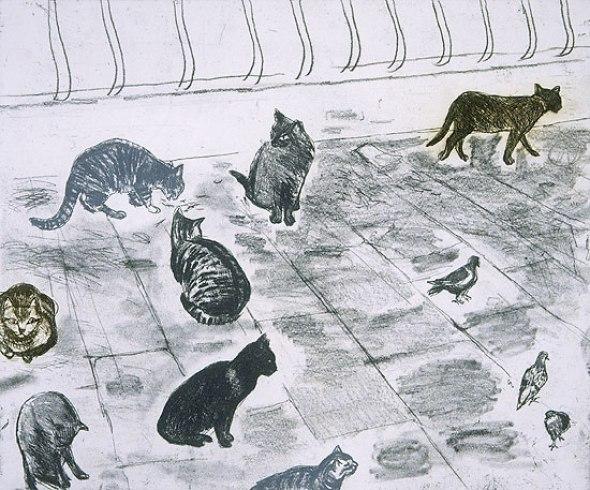 Venice cats, 2002 Elizabeth Blackadder