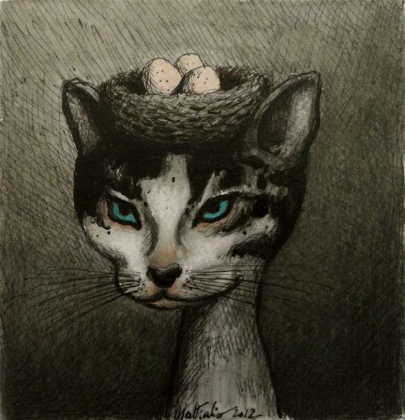 5- Franco Matticchio-Cat Cartoon
