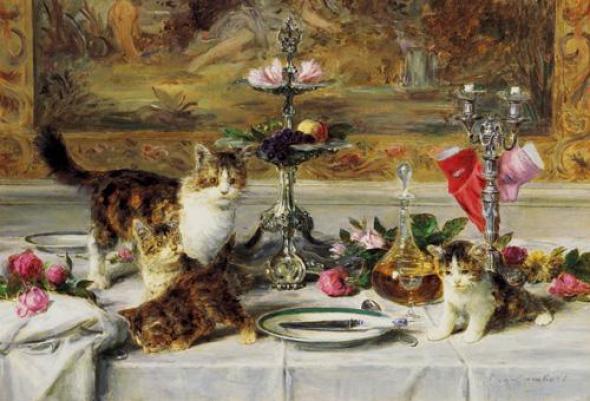 Up to No Good, Louis Eugene Lambert, cats in art