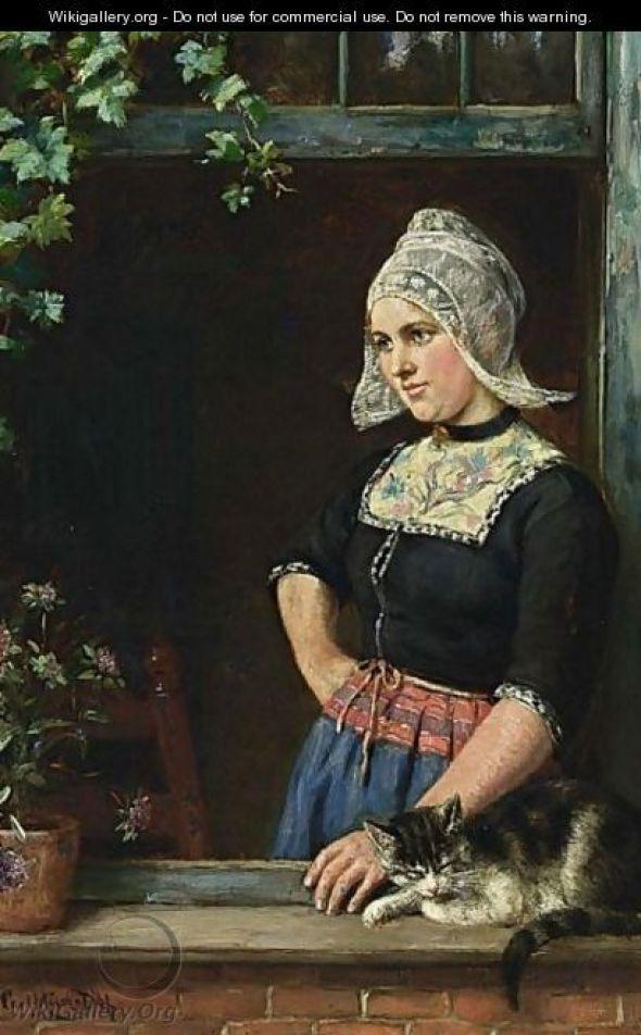 Karl Emil Mucke, Girl and Cat