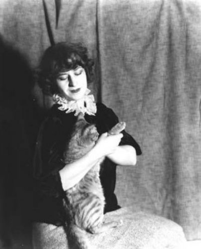 Agnes Tait with Cat