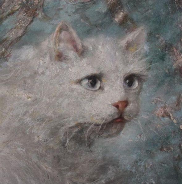 Detail, Mother and Kitten, Carl Kahler