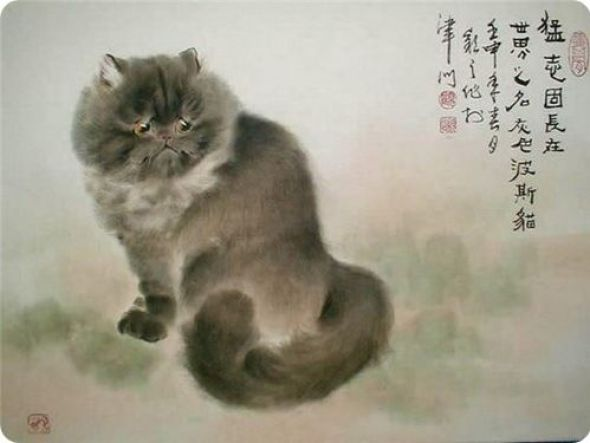 Gu Yingzhi, Chinese cats in art