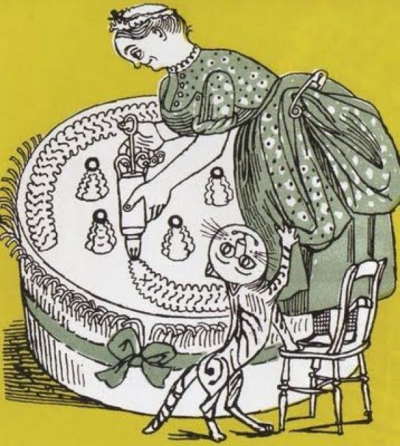 Cat Begging, Illustration, Edward Bawden