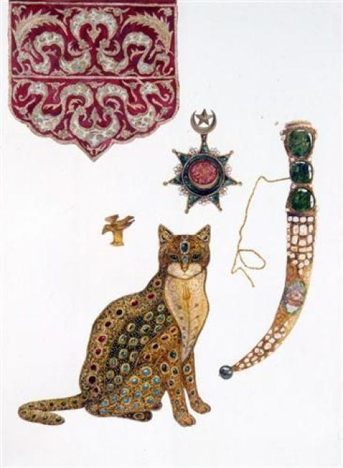 Feridun Oral, Cat, Knife and Turkish Emblem