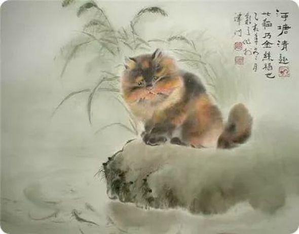 Gu Yingzhi, Chinese cat artist