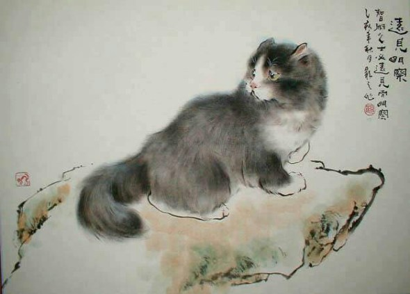 Gu Yingzhi, cats in art