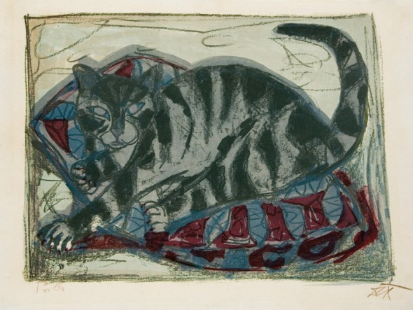 Katze, Otto Dix, 1959