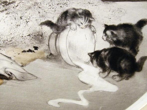 Louis Icart, Spilled Milk, Detail