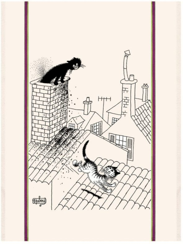 Albert Dubout, Cats on a Roof