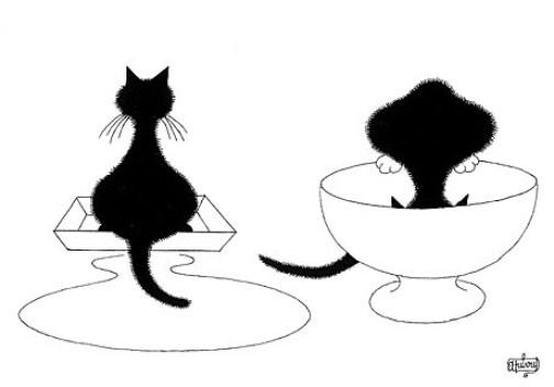 Albert Dubout, Cats, Chats, Katzen