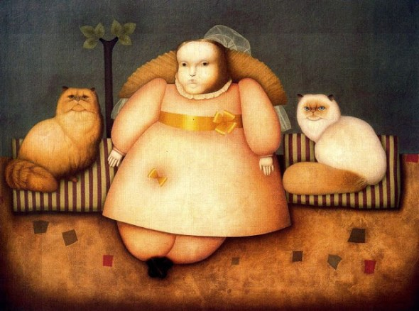 Girl with Two Cats, Juan Bejar