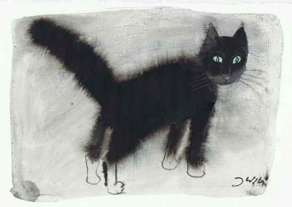 Green Eyed Cat, Jozef Wilkon