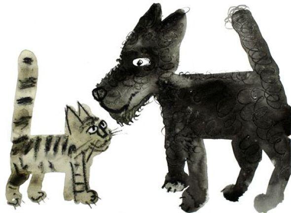 Józef Wilkon, illustrator Dog and Cat, Jozef Wilkon