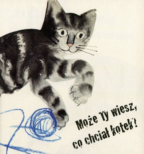 Jozef Wilkon, Cat Playing with String