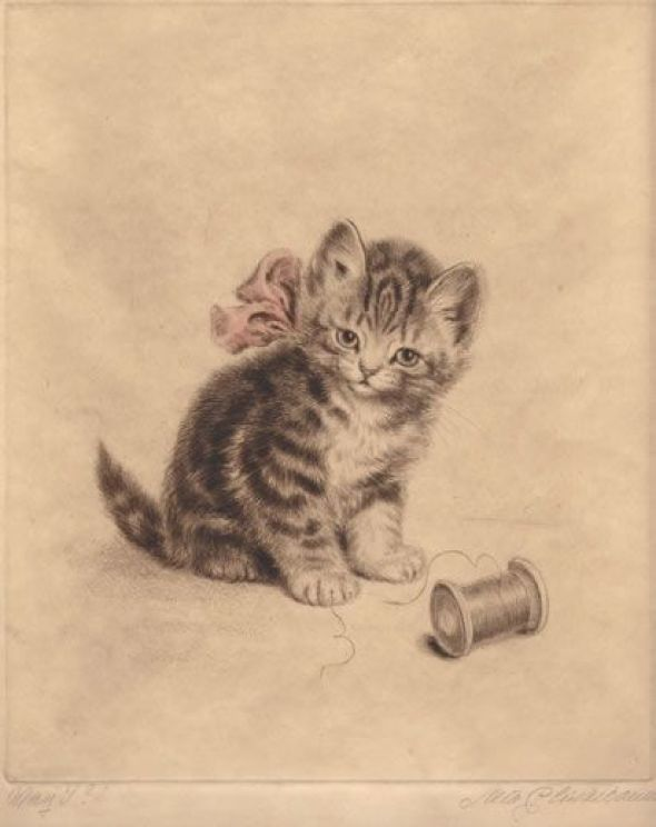 Meta Pluckebaum, Kitten dry point