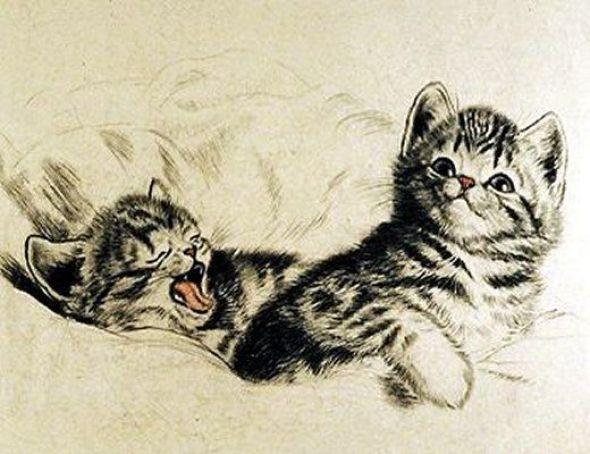 Meta Pluckebaum, Two Kittens