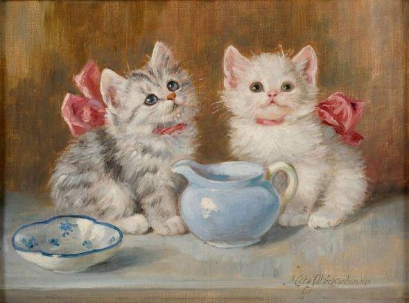 Meta Pluckebaum, Two White Kittens