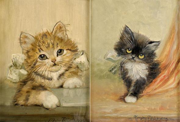 Two Kittens, Meta Pluckebaum