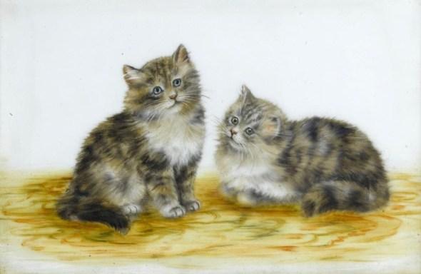 Two Grey and White Kittens, Meta Pluckebaum