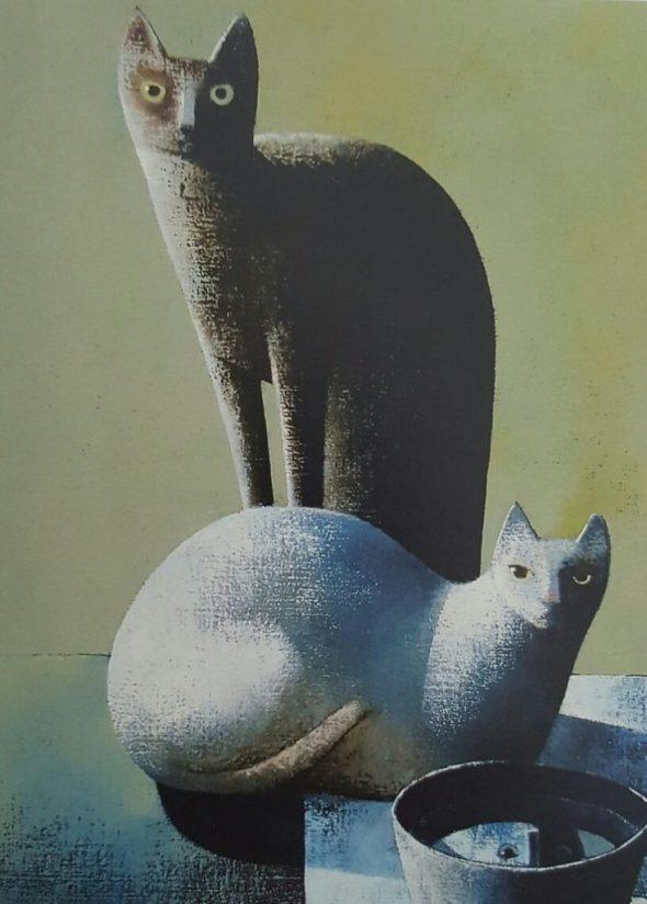 Two Cats, Peter Harskamp