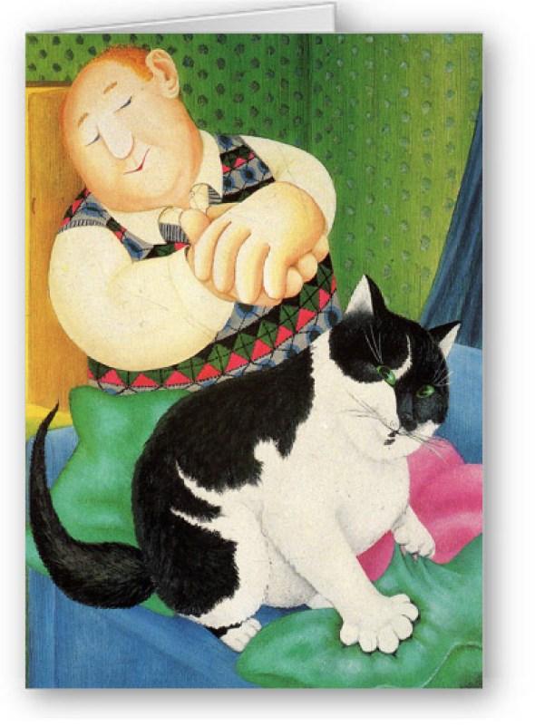 Beryl Cook, Black and White Cat