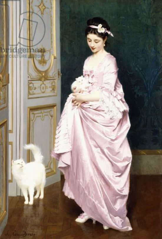 Feline Affection. Joseph Caraud (1821-1905), 1872