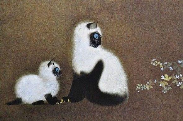 Mother Cat and Kitten, Matazo Kayama
