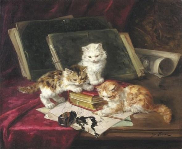 Spilt Ink and Kittens, Marie Yvonne Laur