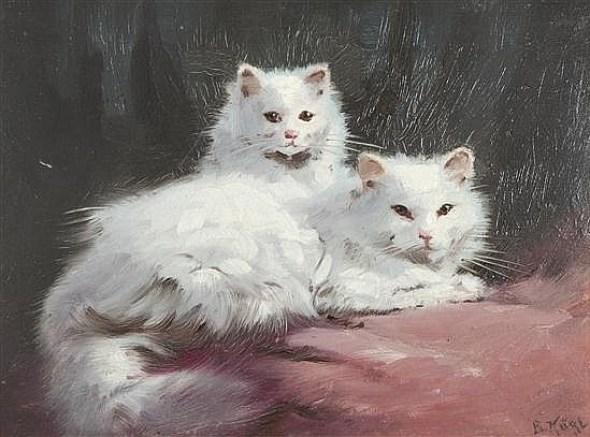 Two White Cats, Benno Kogl