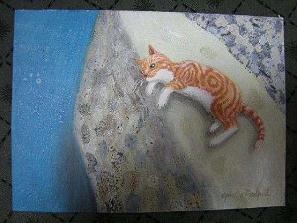Ophelia Redpath (British, 20th Century) Ginger Cat on a Wall