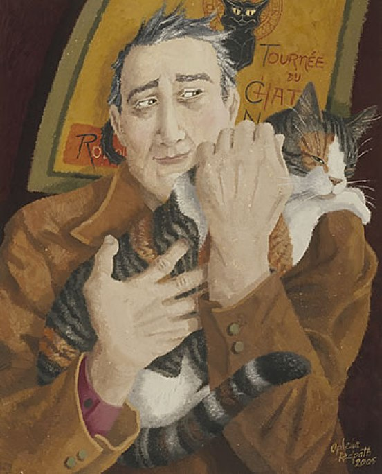 Ophelia Redpath, Man and Cat (2)
