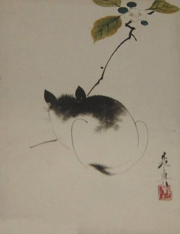 Cat, Leaf from an album of ten leaves by Shibata Zeshin, c. 1870s