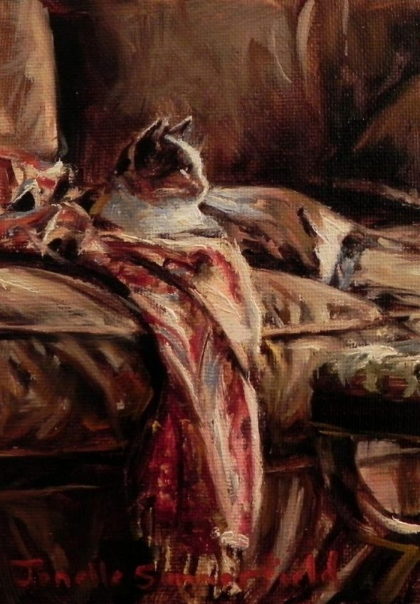 Jonelle Summerfield, Cat on a Throw