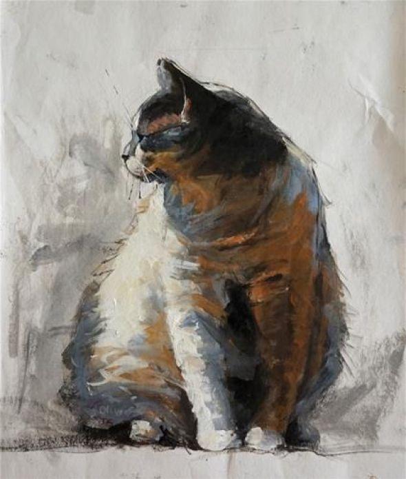 Jonelle Summerfield, Seated Cat