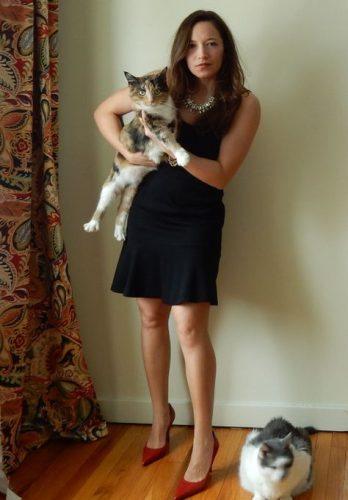 Jonelle Summerfield with her Cats