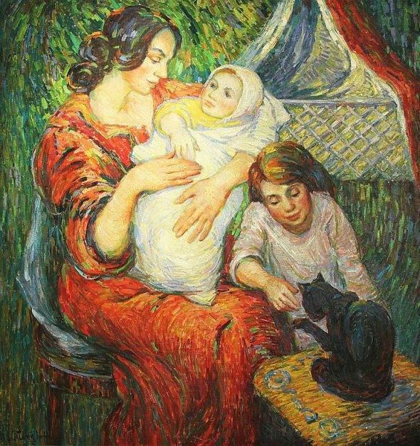 Nicholas Tarkhoff, Mother, Daughter and Cat