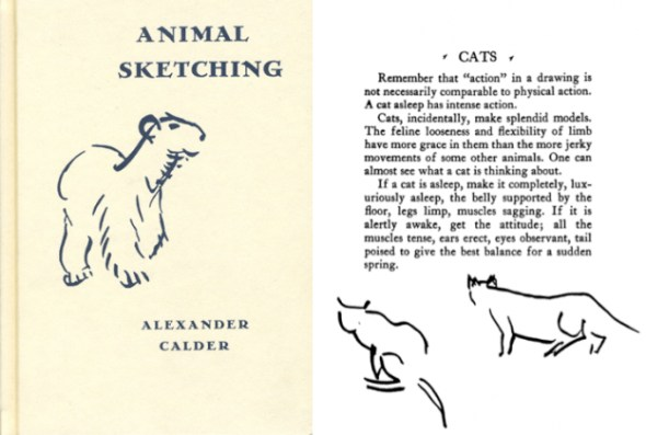 Alexander Calder, Book on Animal Sketching-Cats
