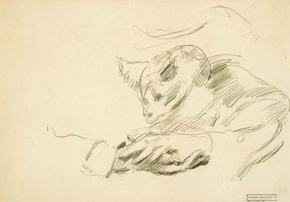 Lovis Corinth Hände mit Katze