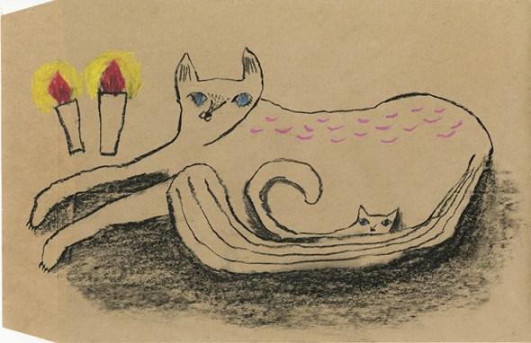 Tetsuhiro Wakabayashi, Cat Lying Down