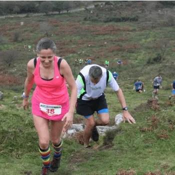 Woman running the Eden Project Marathon