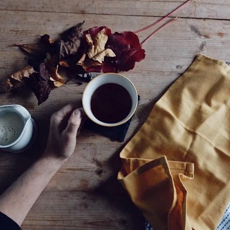 Hand holding tea