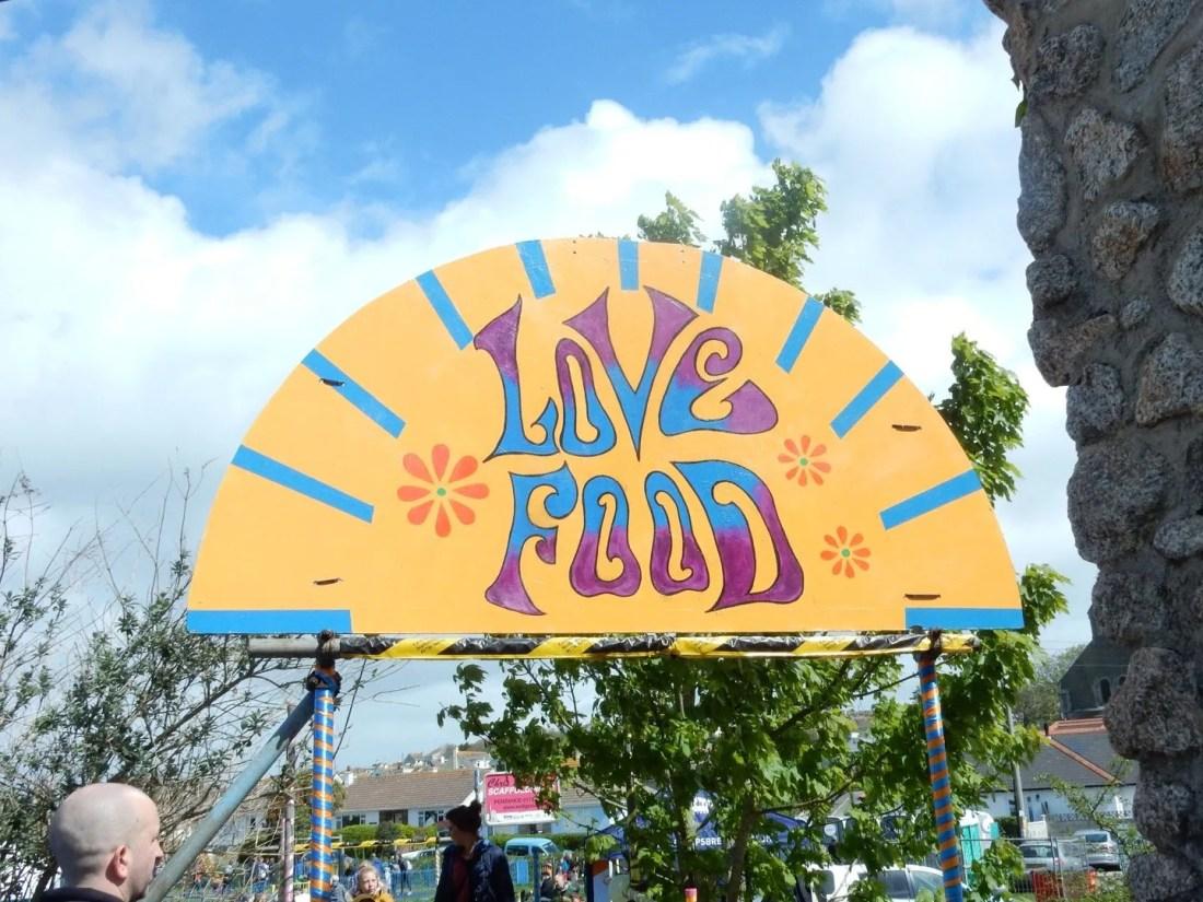Love Food Sign