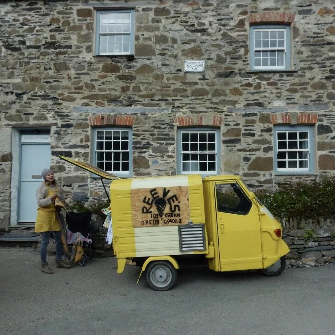 Reeves yellow ice cream van