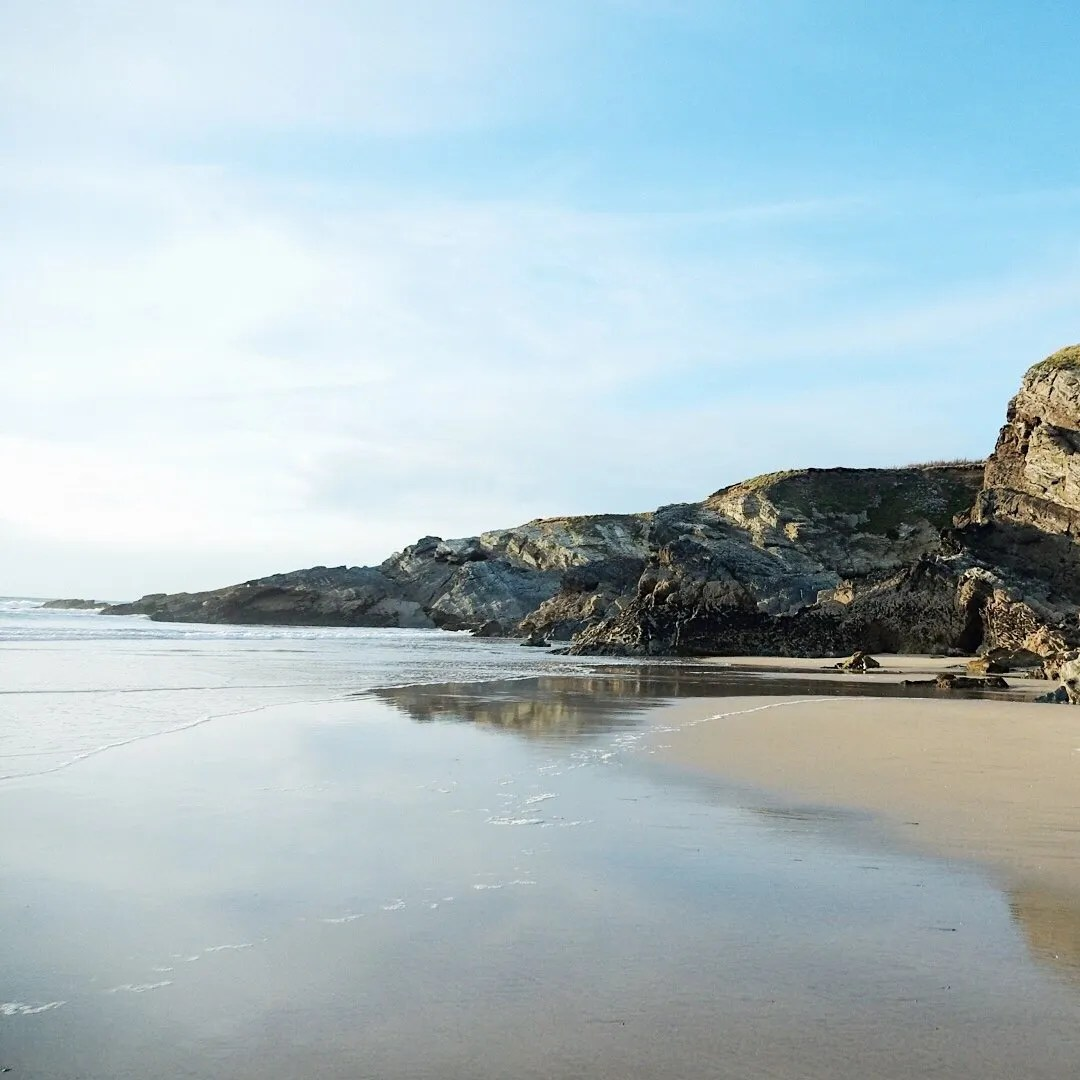 Cliffs and Sand At Lusty Glaze