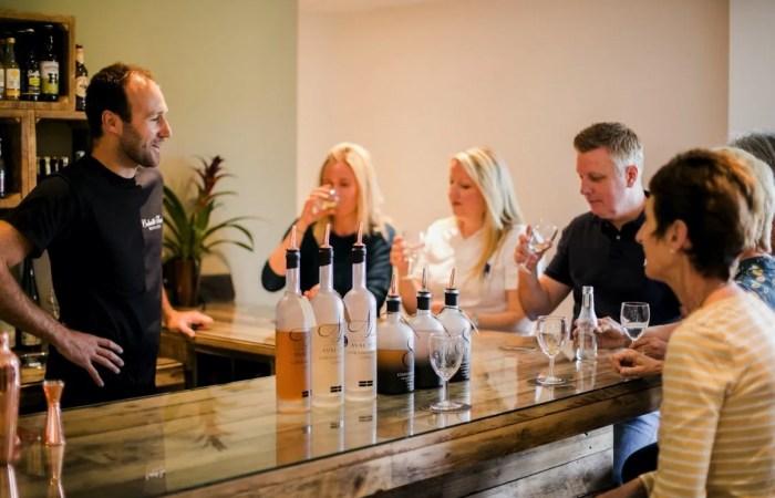 Gin hamper Colwith Distillery people Gin Tasting