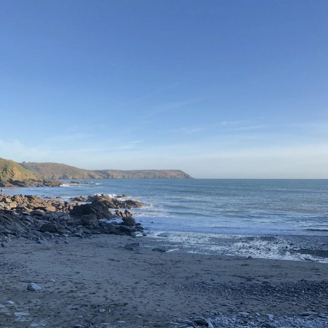 Porthalland Cove Cornwall Beach Waves