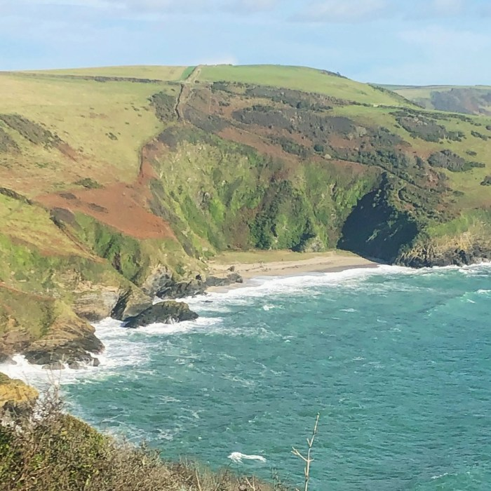Lantic Bay from the south west coast path