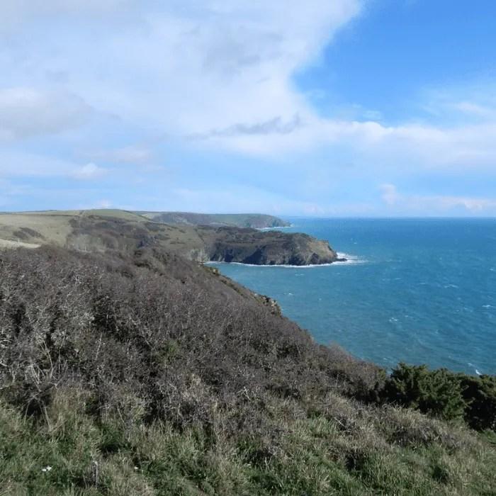 The Cornish coastline from Polruan